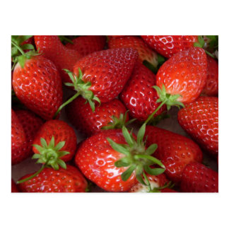 Ripe Strawberries Postcard