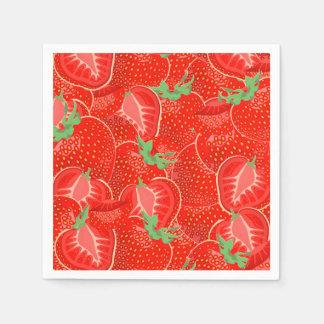 Ripe strawberry  pattern paper napkins