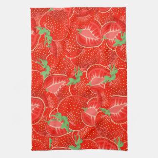 Ripe strawberry  pattern towel