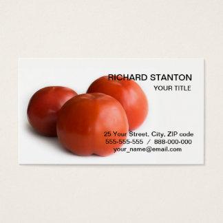 Ripe tomato business card