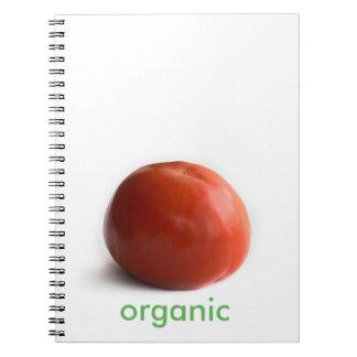 Ripe tomato spiral notebook
