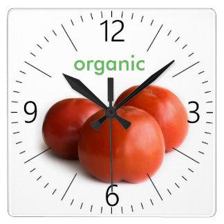 Ripe tomato square wall clock