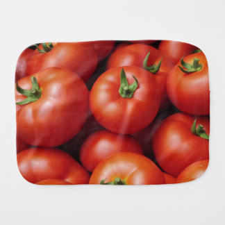 Ripe Tomatoes - Bright Red, Fresh Baby Burp Cloths