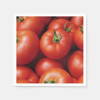 Ripe Tomatoes - Bright Red, Fresh Paper Napkin