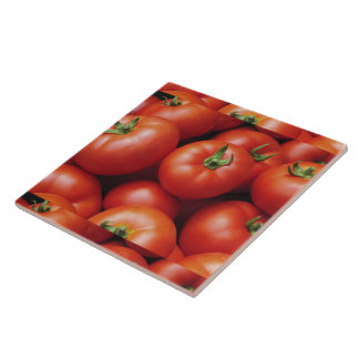 Ripe Tomatoes - Bright Red, Fresh Tile
