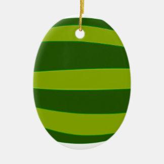 Ripe Watermelon Ceramic Ornament