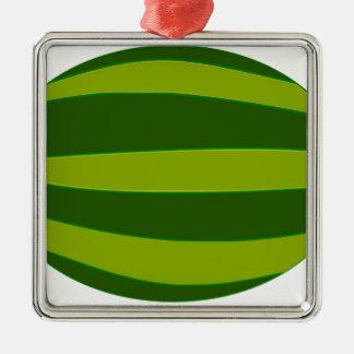 Ripe Watermelon Metal Ornament