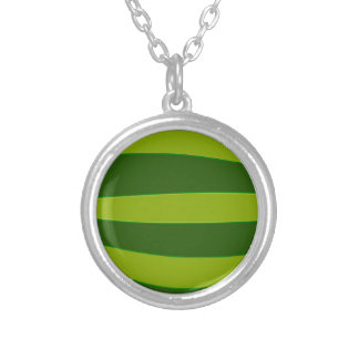 Ripe Watermelon Silver Plated Necklace