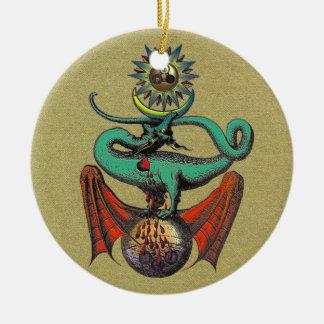 Ripley Scroll Ceramic Ornament