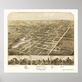 Ripon, WI Panoramic Map - 1867 Poster