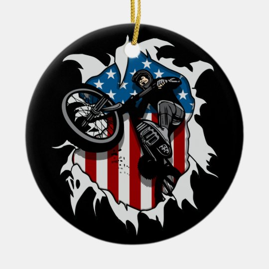 Ripped BMX Bicycle Ceramic Ornament