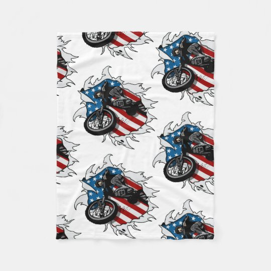Ripped BMX Bicycle Fleece Blanket