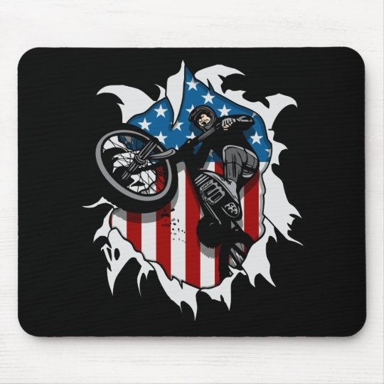 Ripped BMX Bicycle Mouse Pad