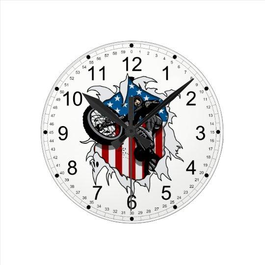 Ripped BMX Bicycle Round Clock