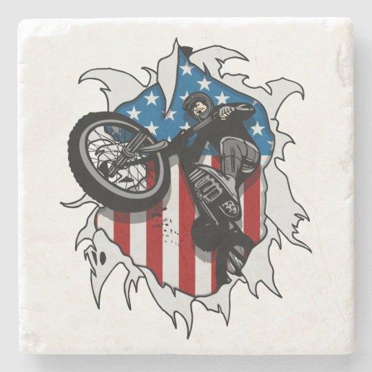 Ripped BMX Bicycle Stone Coaster