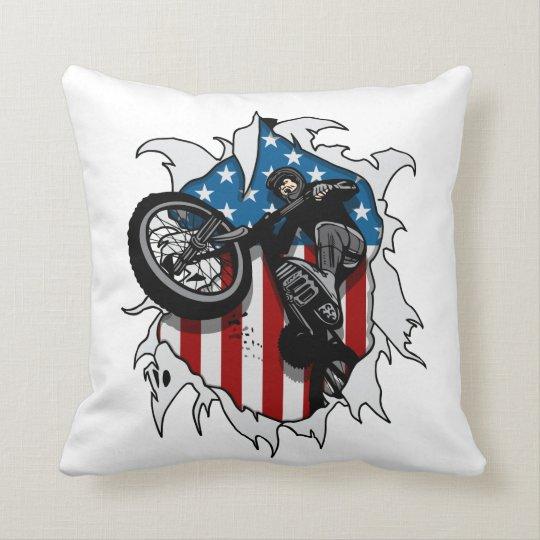 Ripped BMX Bicycle Throw Pillow