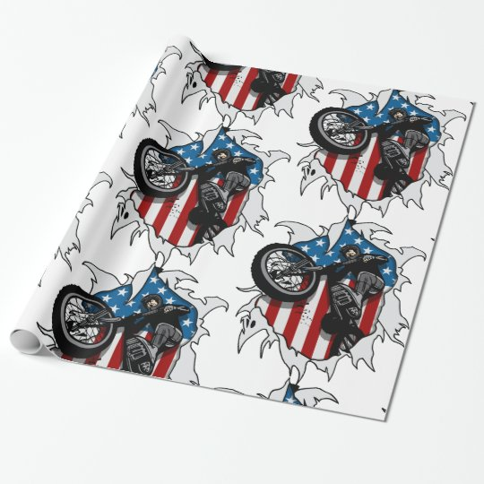 Ripped BMX Bicycle Wrapping Paper