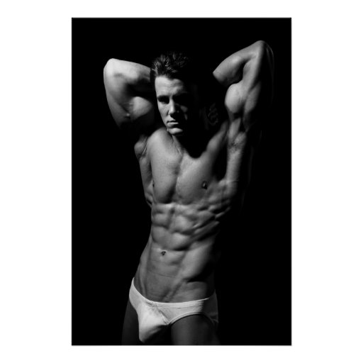 Ripped Bodybuilder Poster