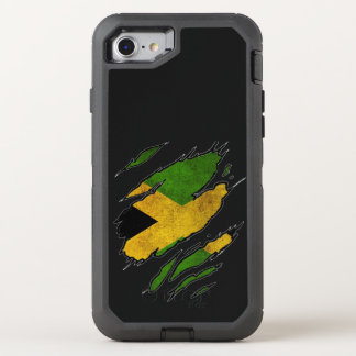 Ripped Flag of Jamaica OtterBox Defender iPhone 8/7 Case