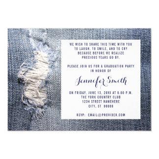Ripped Jeans Look Graduation Invitations