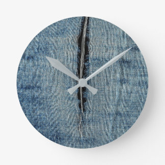 Ripped Jeans Round Clock