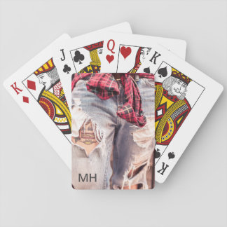 Ripped Jeans & Tattoo custom monogram card deck