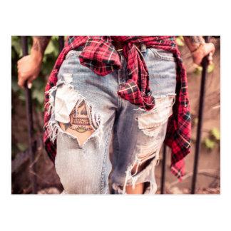 Ripped Jeans & Tattoo postcard
