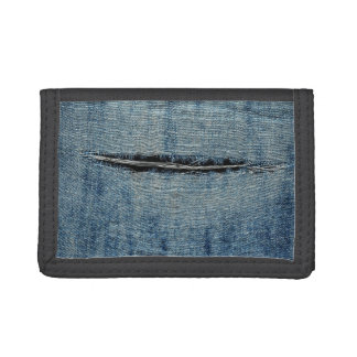 Ripped Jeans Tri-fold Wallets