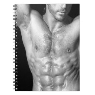 Ripped Male Hunk Notecook Notebooks