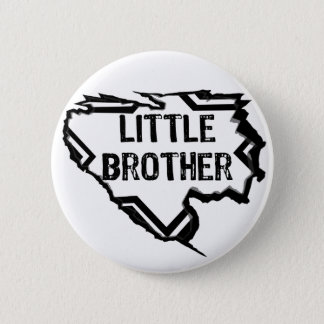 Ripped Star- Brilliant Brother- Black 2 Inch Round Button