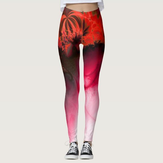Ripple impact (red) leggings