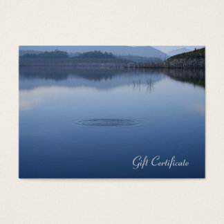 Ripple in Still Blue Water - Gift Certificate