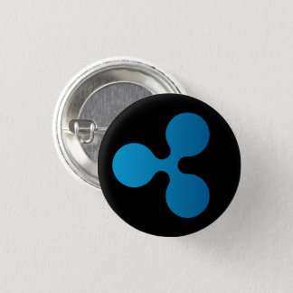 Ripple XRP Icon Round Button (Black)