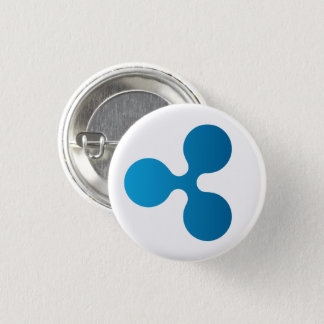 Ripple XRP Icon Round Button (White)