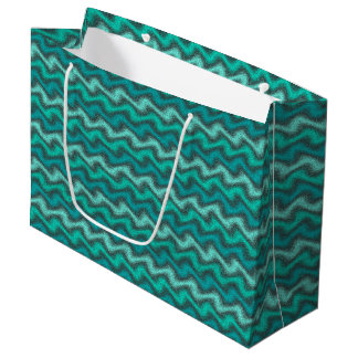 Rippled Aqua Large Gift Bag