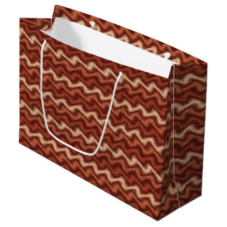 Rippled Brown Large Gift Bag