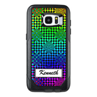 Rippled Checkers by Kenneth Yoncich OtterBox Samsung Galaxy S7 Edge Case