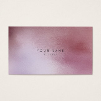 Rippled Glass Mauve Pink Rose Ombre Stylist Vip Business Card