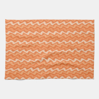 Rippled Orange Kitchen Towel