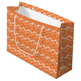 Rippled Orange Large Gift Bag