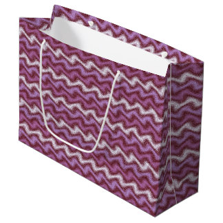 Rippled Purple Large Gift Bag