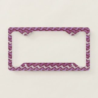 Rippled Purple License Plate Frame