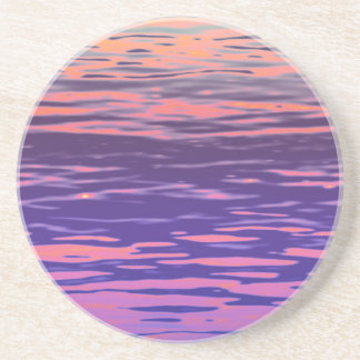 Rippled rainbow water drink coasters