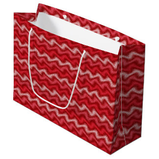 Rippled Red Large Gift Bag
