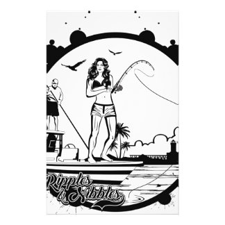 Ripples & NIbbles fishing outfitter logo Stationery