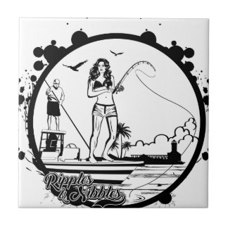 Ripples & NIbbles fishing outfitter logo Tile