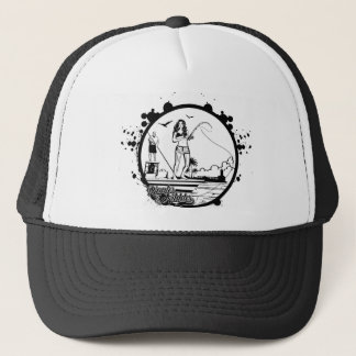 Ripples & NIbbles fishing outfitter logo Trucker Hat