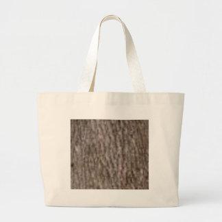 ripples of white bark large tote bag