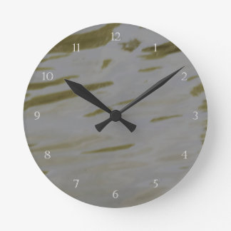 Rippling Water Round Clock