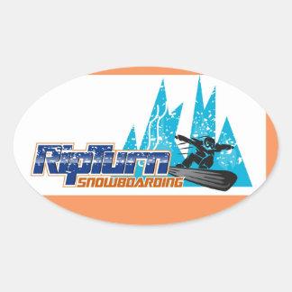 RipTurn Snowboarding Sticker